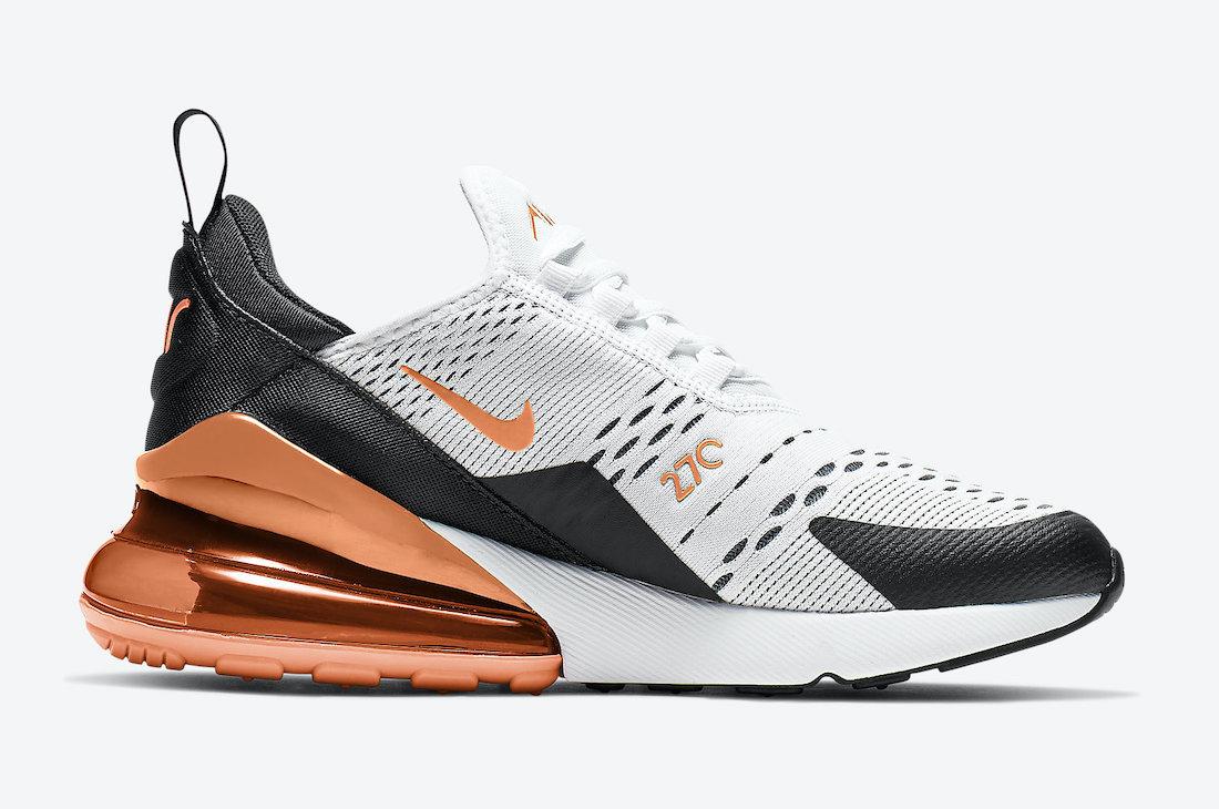Nike Air Max 270 GS White Stadium Green Turf Orange 943345-107 Release Date Info