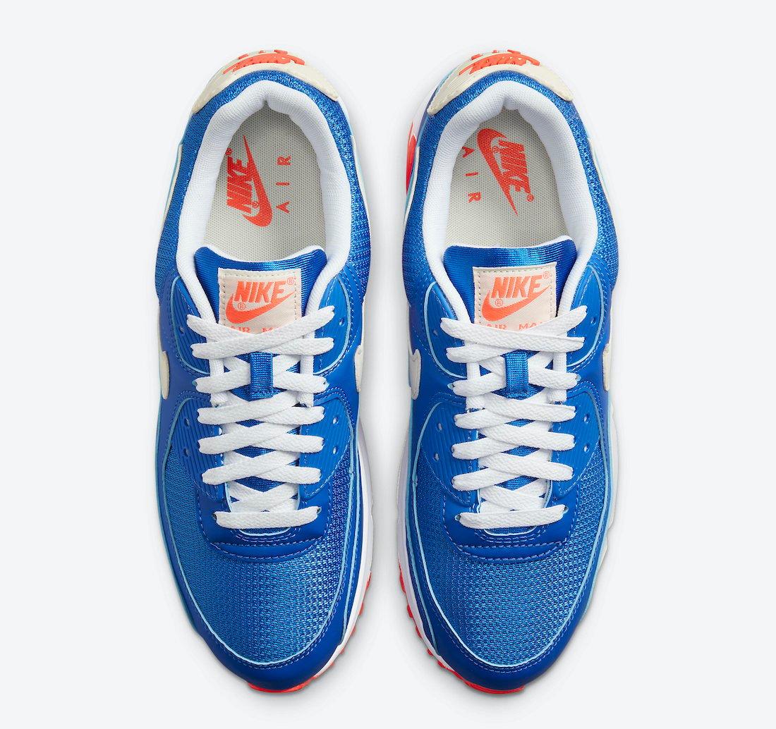 Nike Air Max 90 Blue White Crimson DM8316-400 Release Date Info
