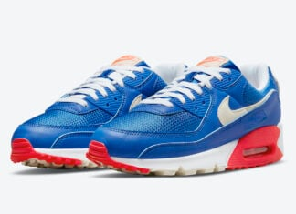 Nike Air Max 90 Blue White Crimson DM8316-400 Release Date Info