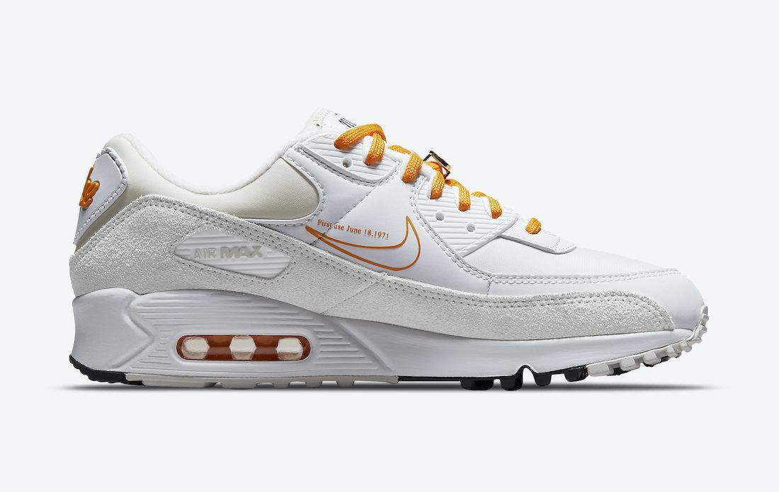Nike Air Max 90 First Use White Orange DA8709-100 Release Date Info
