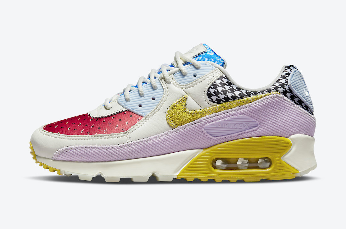 Nike Air Max 90 Sail Blue Red Pink Yellow DM8075-100 Release Date Info