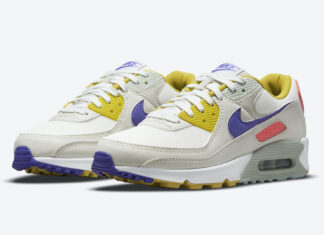 Nike Air Max 90 White Yellow Purple Pink DA8726-100 Release Date Info