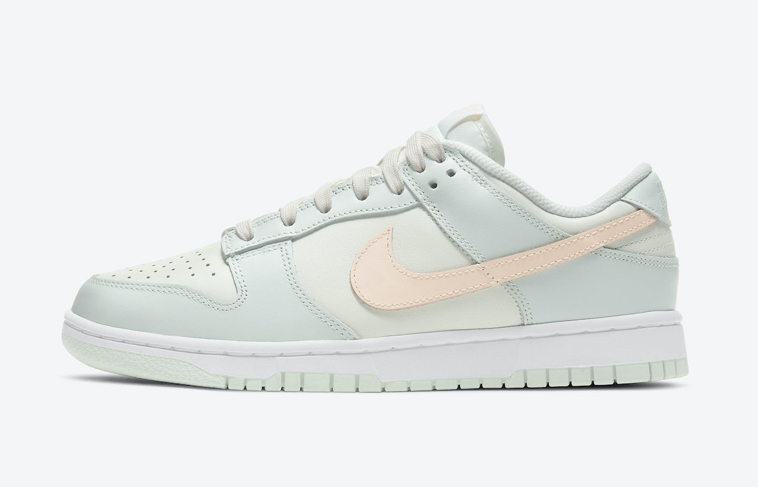 nike dunk low barely green wmns dd1503 104 release date info 1