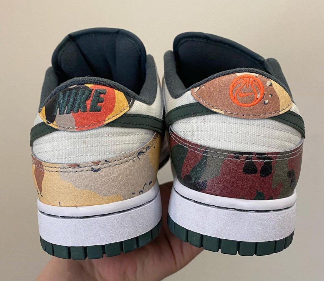 Nike Dunk Low Camo DH0957-100 Release Info
