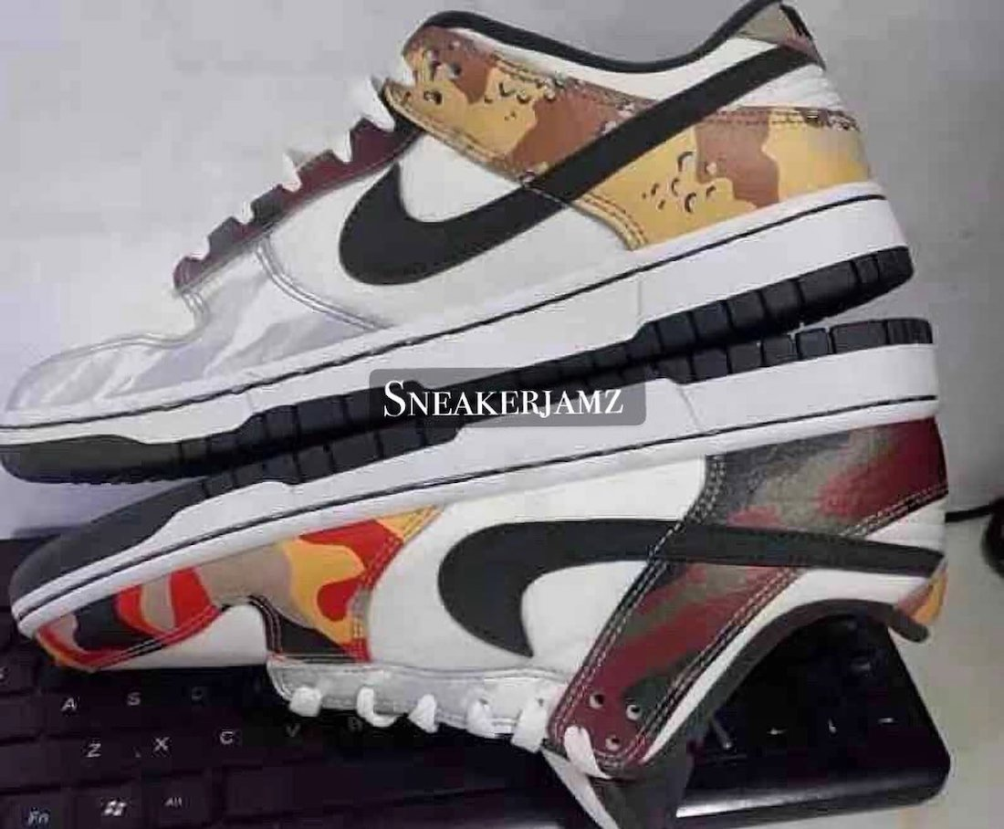 Nike Dunk Low SE Camo DH0957-100 Release Date Info
