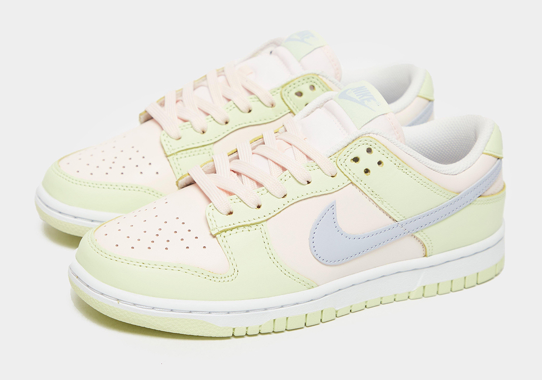 nike dunk low wmns light soft pink ghost lime ice white release date info 1
