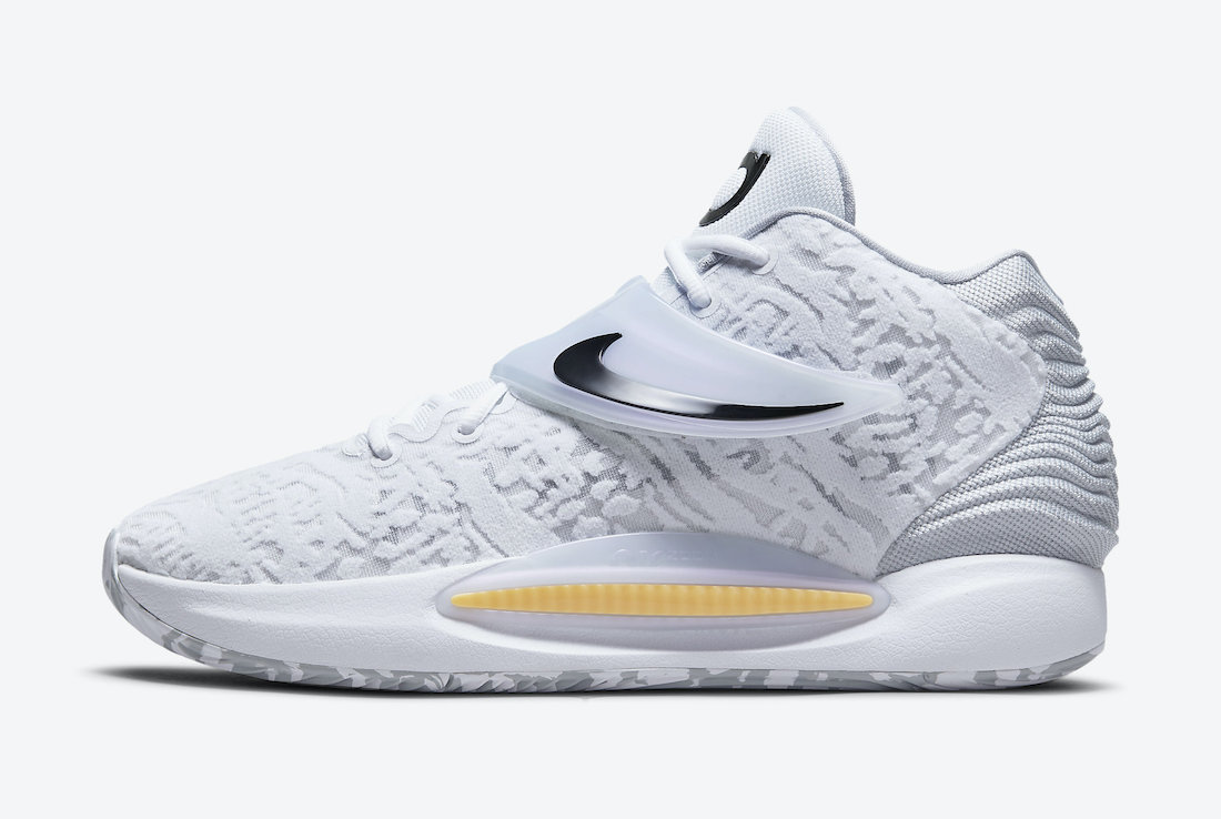 Nike KD 14 Home White Black CW3935-100 Release Date Info