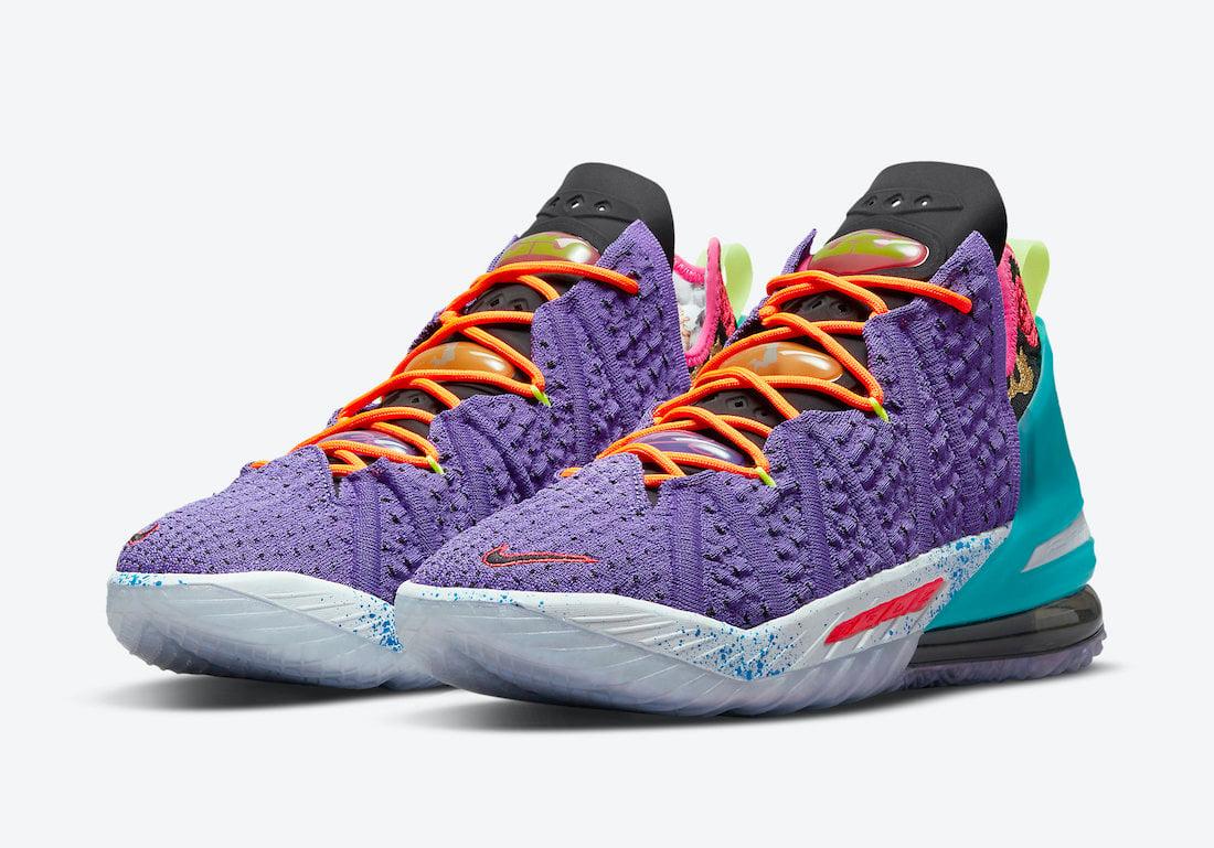 Nike LeBron 18 Psychic Purple DM2813-500 Release Date Info