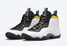 Nike Little Posite One White Black Yellow DJ5797-100 Release Date Info