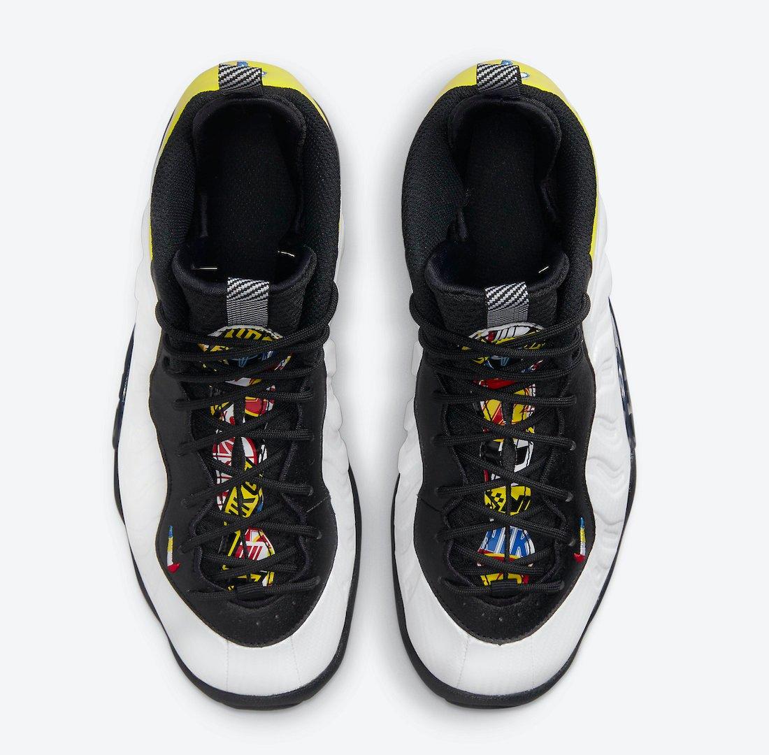 Nike Little Posite One White Black Yellow DJ5797-100 Release Date Info