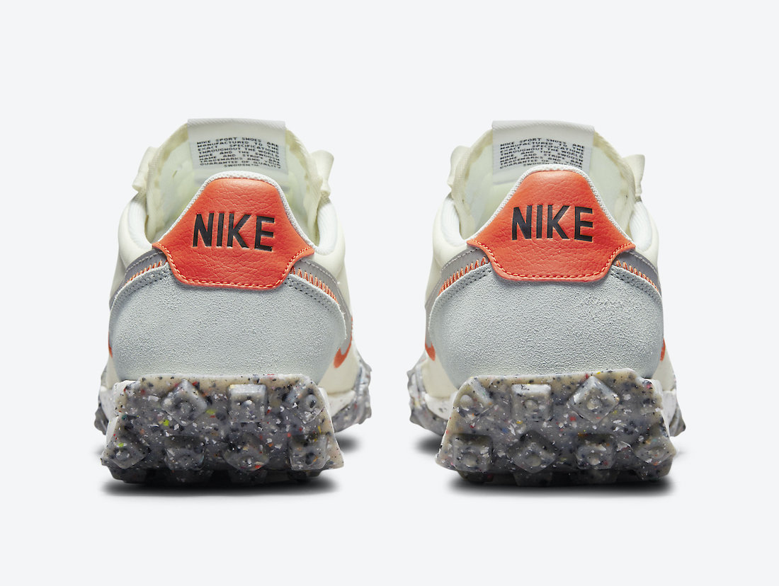 Nike Waffle Racer Crater Coconut Milk Team Orange Metallic Silver CT1983-105 Release Date Info