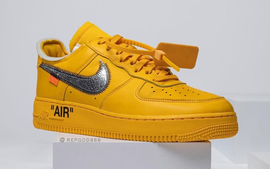 Off-White Nike Air Force 1 University Gold DD1876-700 Release