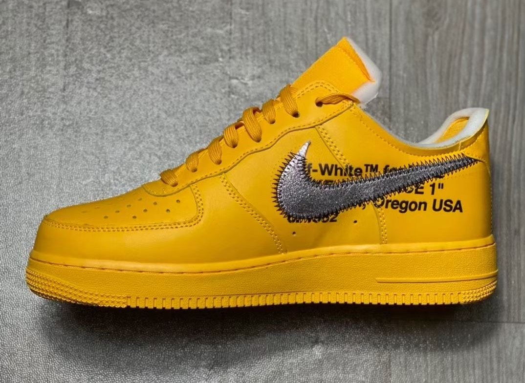 Off-White x Nike Air Force 1 Low University Gold DD1876-700 Release Info