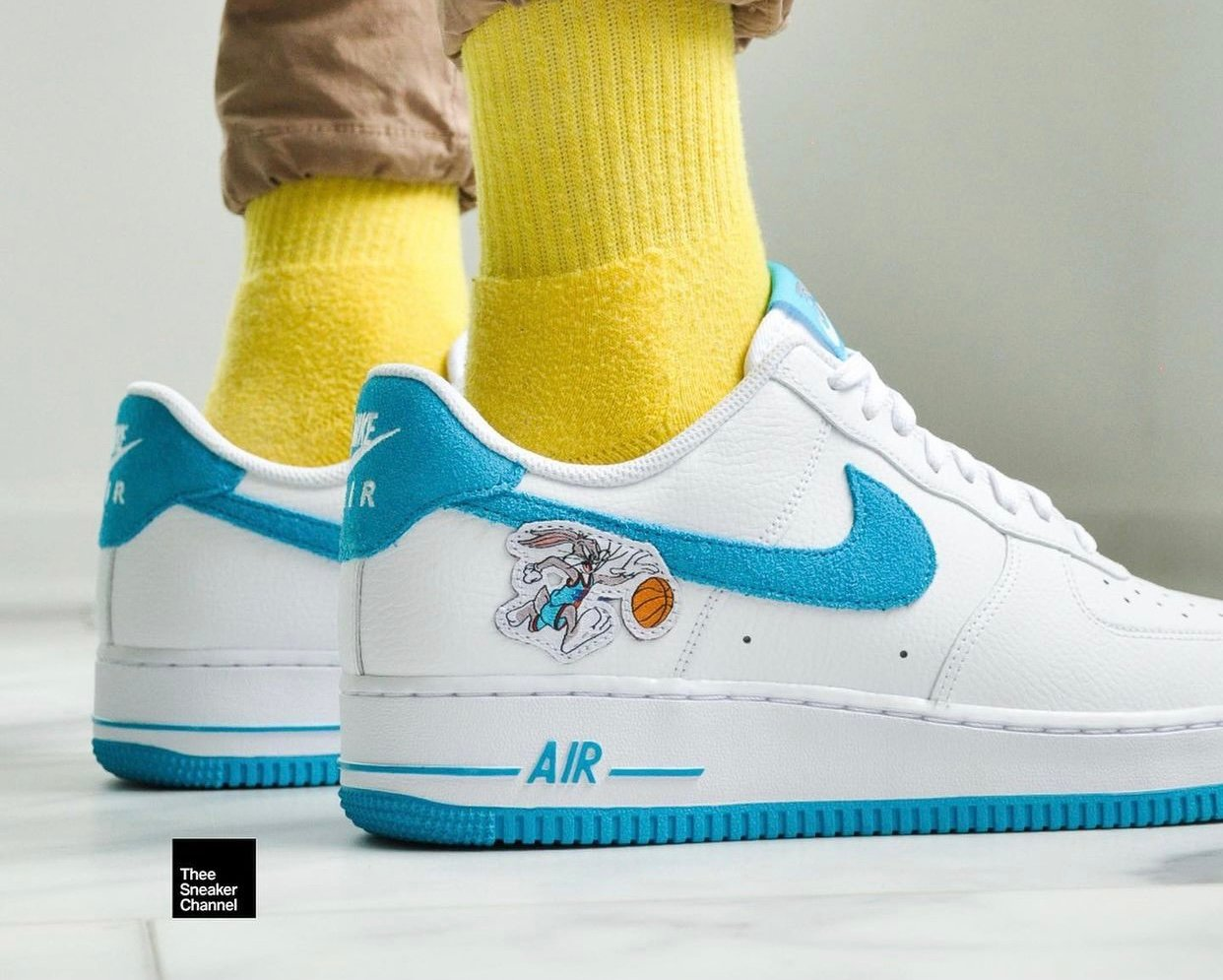 Space Jam Nike Air Force 1 Low Hare On-Feet