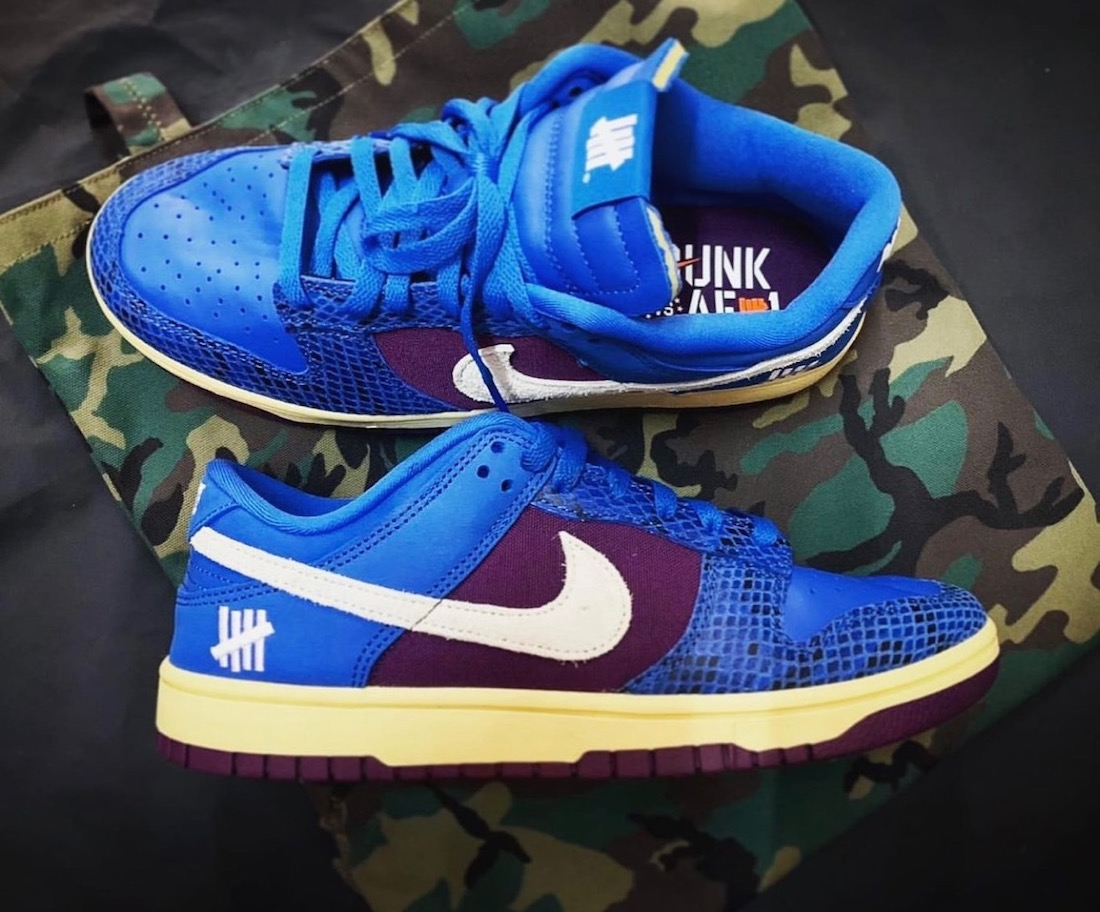 Undefeated Nike Dunk Low Blue Purple Dunk vs AF1 Release Date