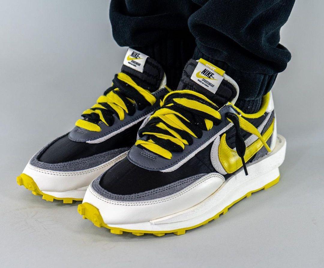 Undercover Sacai Nike LDWaffle Bright Citron DJ4877-001 On-Feet
