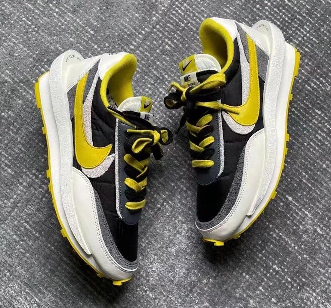 Undercover x Sacai x Nike LDWaffle Bright Citron DJ4877-001 Release Date Info