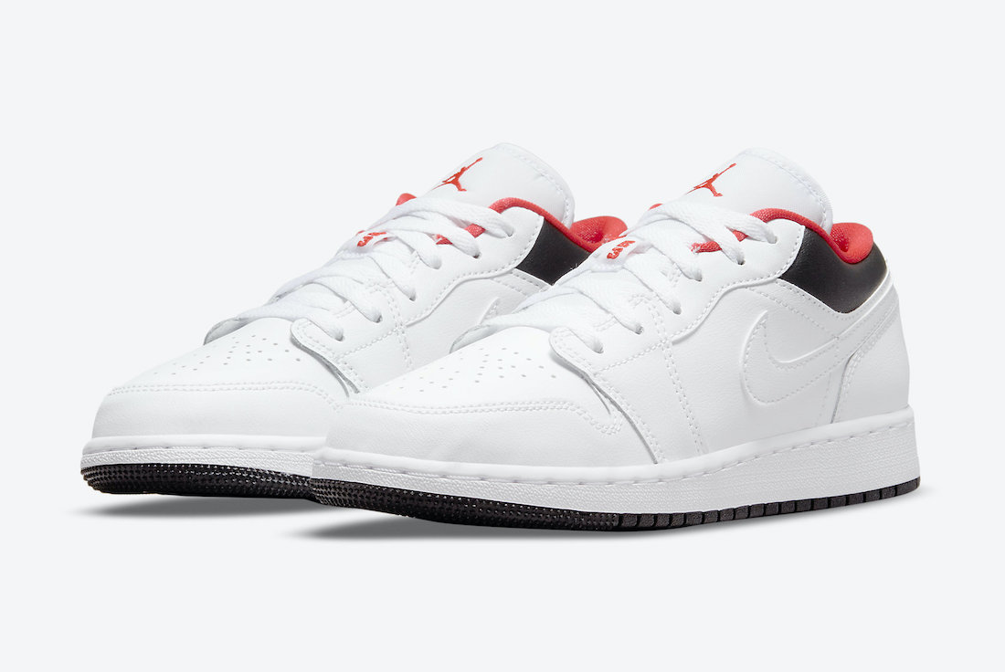 Air Jordan 1 Low GS Chicago Home White Black Red 553560-160 Release Date Info
