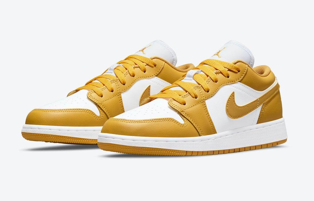 Air Jordan 1 Low GS White Yellow 553560-171 Release Date Info
