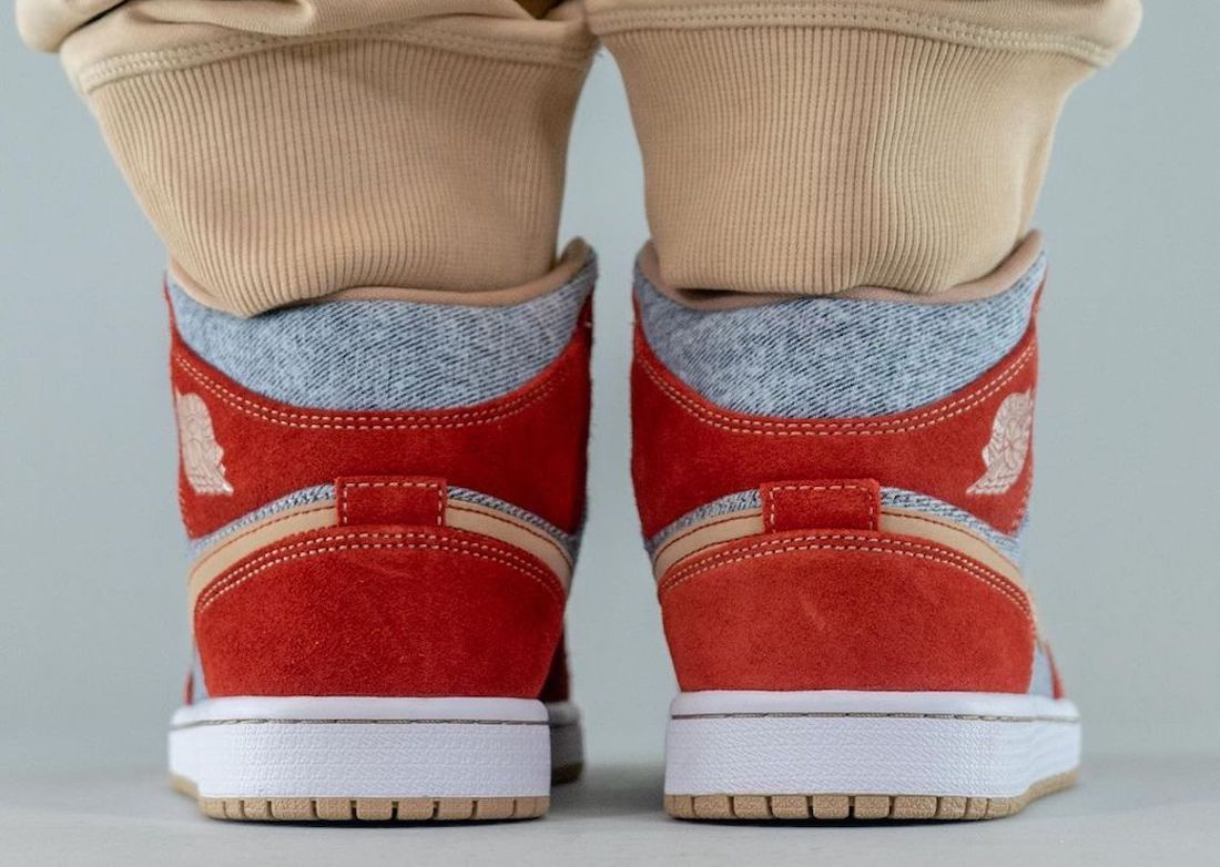 Air Jordan 1 Mid Denim DM4352-600 On-Feet