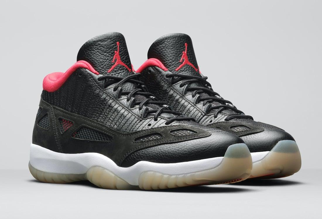 Air Jordan 11 Low IE Bred Black Red 919712-023 Release Date