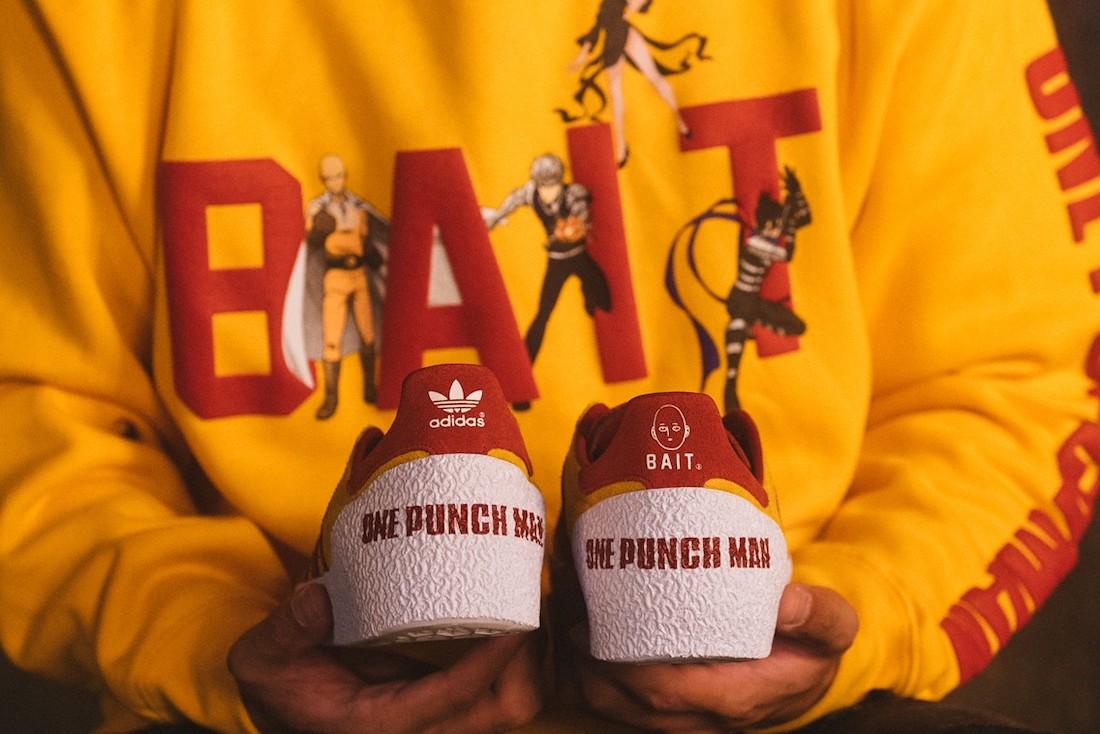 BAIT One Punch Man adidas Montreal 76 Saitama Release Date Info