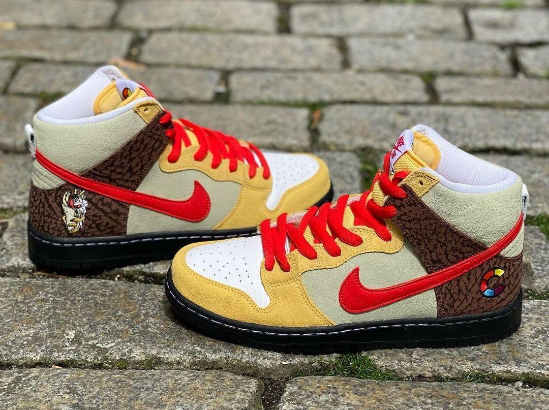 Color Skates Nike SB Dunk High Kebab Destroy CZ2205-700 Release Date
