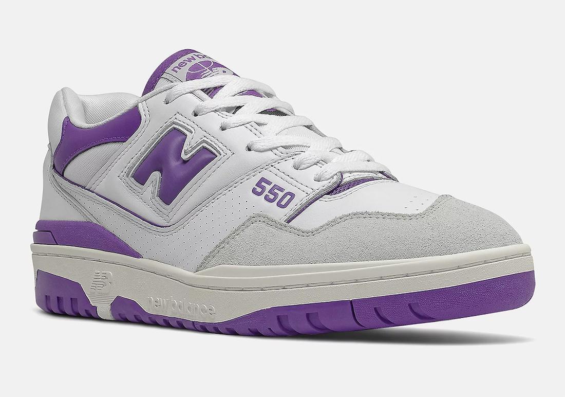New Balance 550 White Purple BB550WR1 Release Date Info
