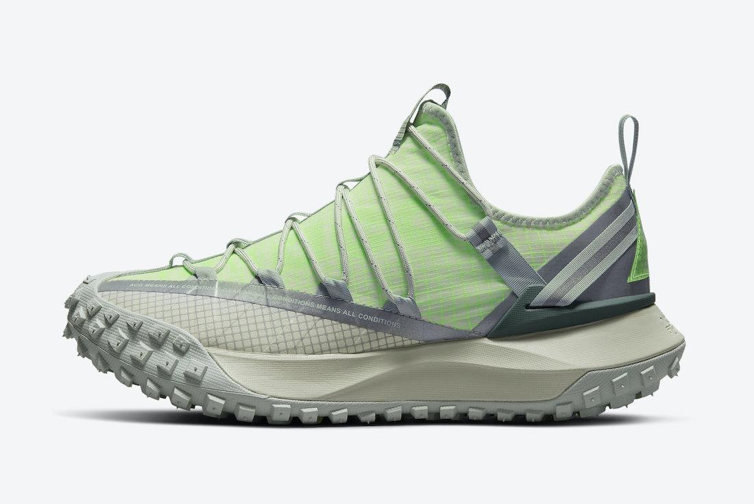 Nike ACG Mountain Fly Low Sea Glass Lime Blast DJ4030-001 Release Date Info