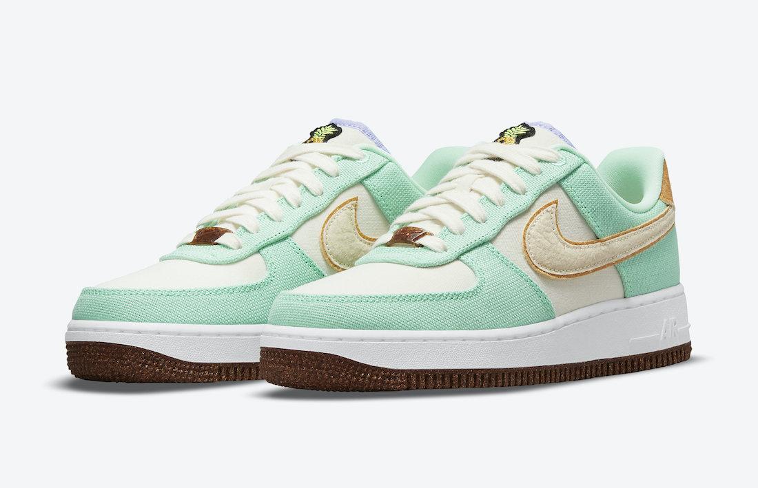Nike Air Force 1 Low Happy Pineapple Green Glow CZ0268-300 Release Date Info