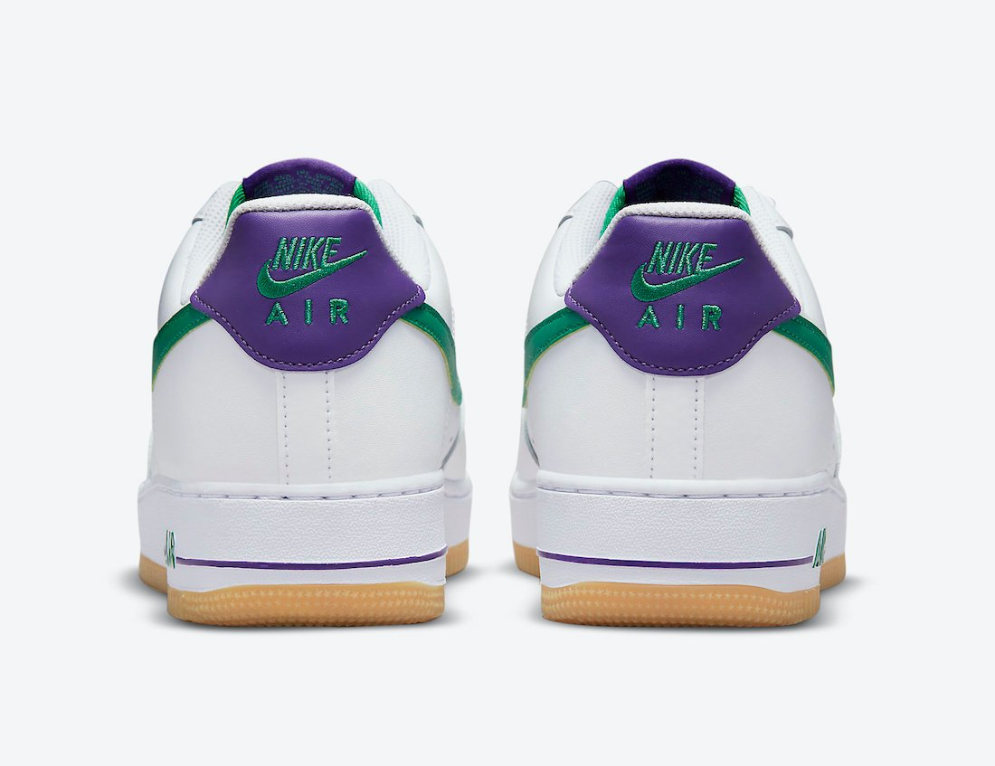 Nike Air Force 1 Low White Green Purple DO1156-100 Release Date Info