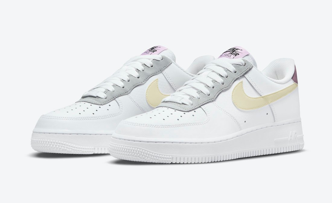 Nike Air Force 1 Low White Yellow Purple DN4930-100 Release Date Info