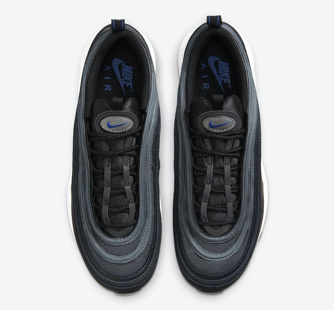 Nike Air Max 97 Black Metallic Silver Racer Blue DM9105-001 Release Date Info