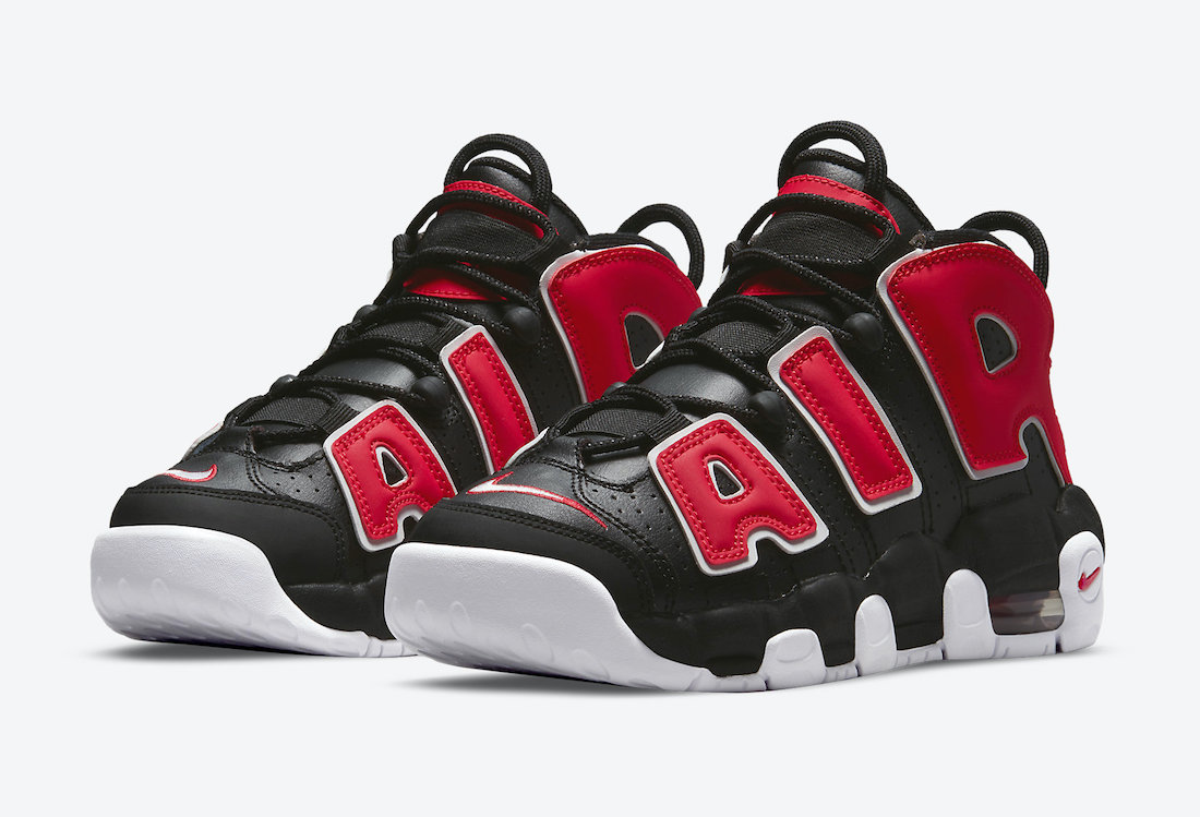 Nike Air More Uptempo GS Black University Red White DM3190-001 Release Date Info