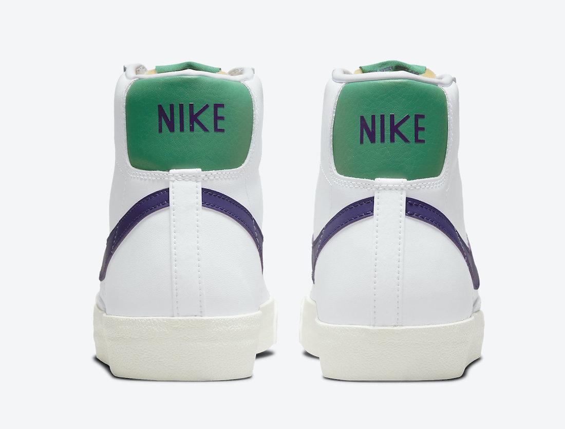 Nike Blazer Mid 77 White Purple Green DO1157-100 Release Date Info
