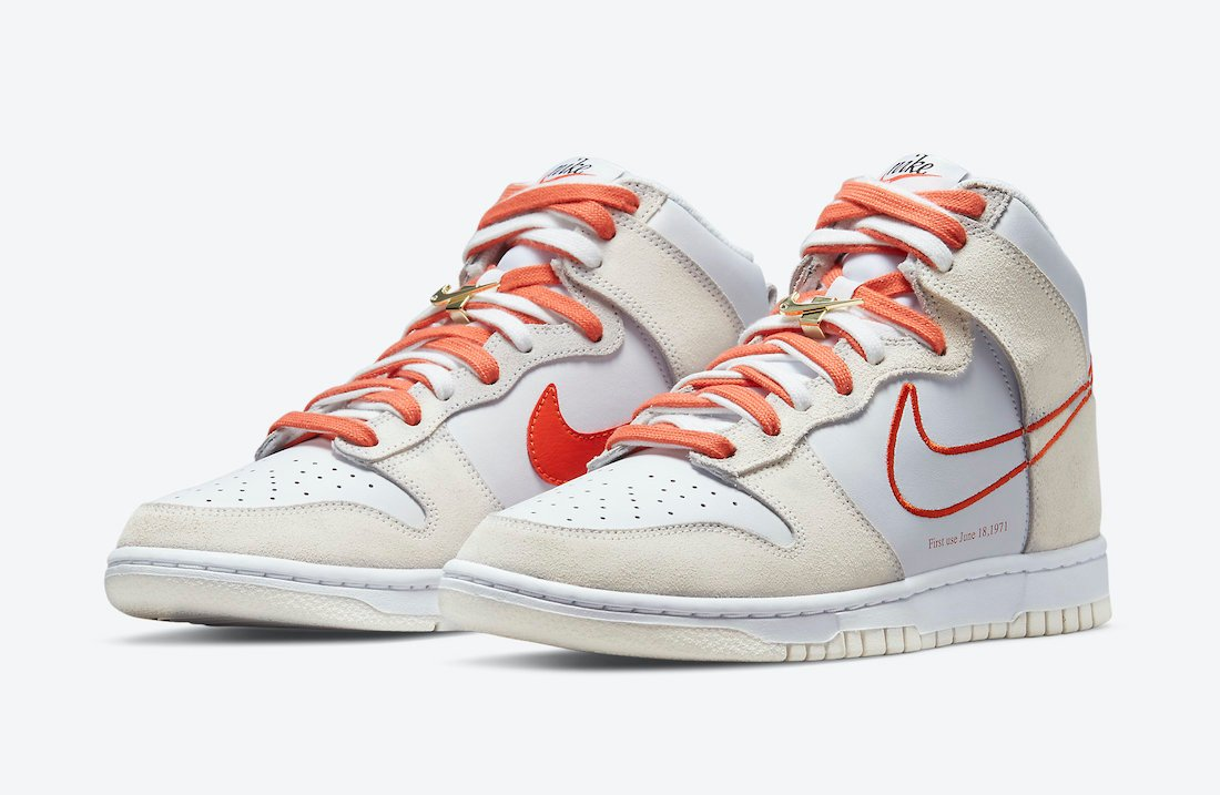 Nike Dunk High First Use White Orange DH6758-100 Release Date Info