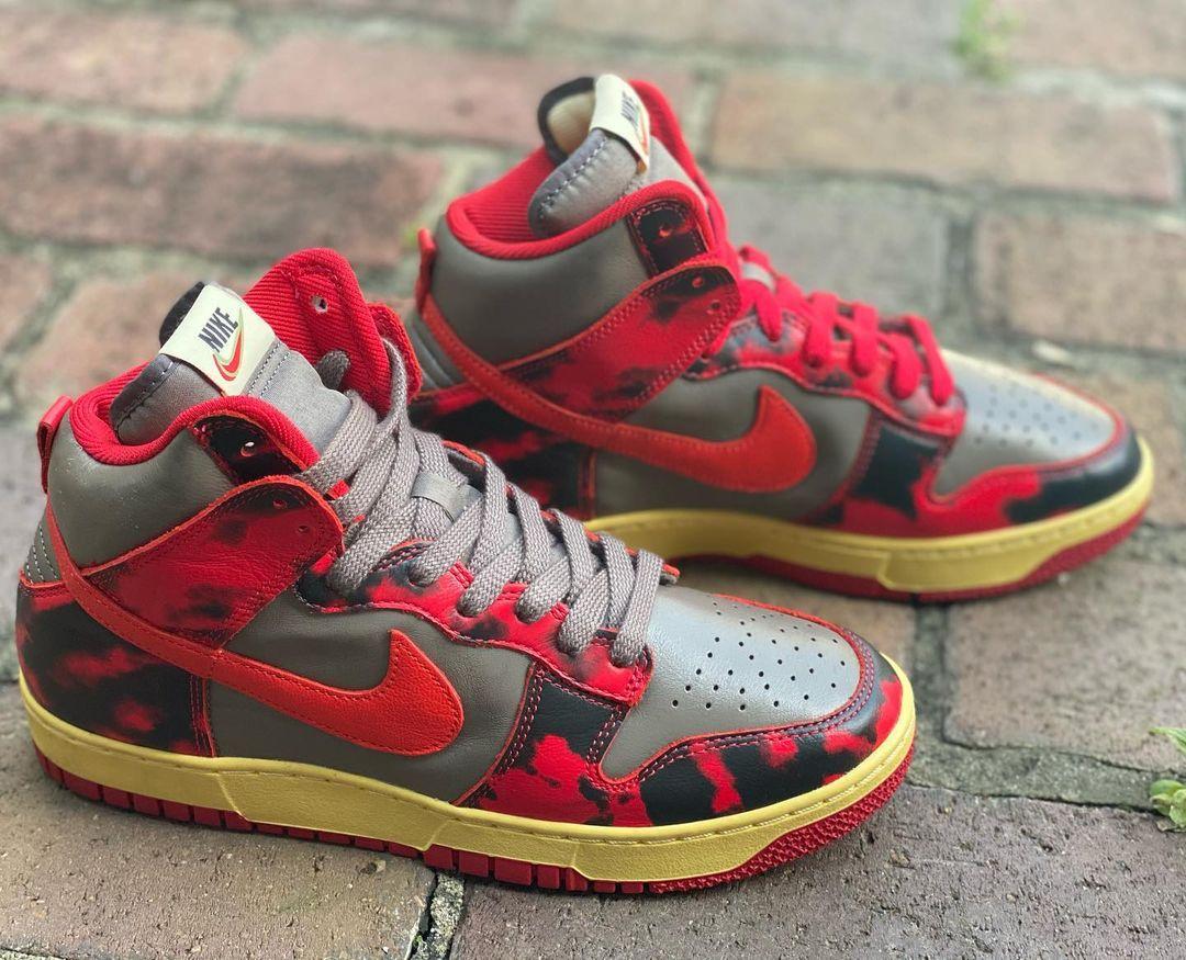 Nike Dunk High Red Camo DD9404-600 Release Date