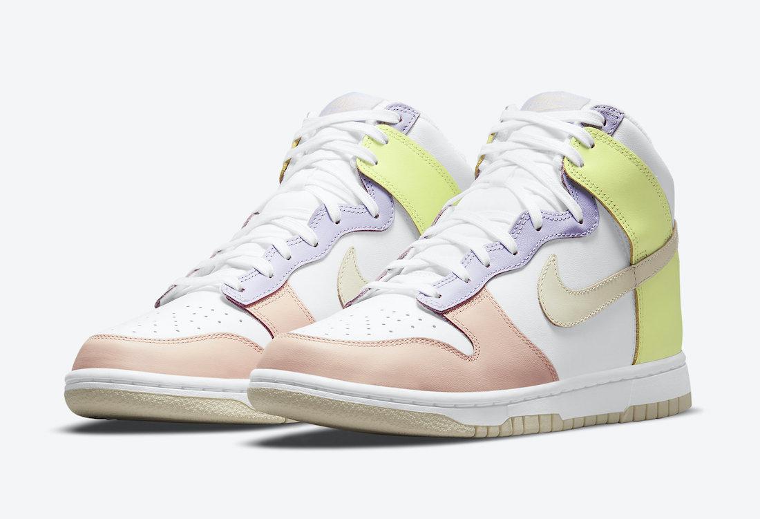 Nike Dunk High White Cashmere Lemon Twist DD1869-108 Release Date