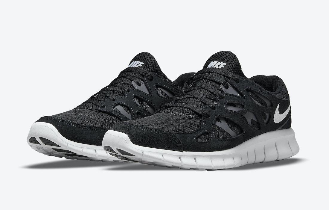 Nike Free Run 2 Black White 537732-004 Release Date Info