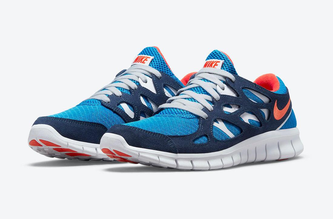 Nike Free Run 2 Blue Orange 537732-403 Release Date Info