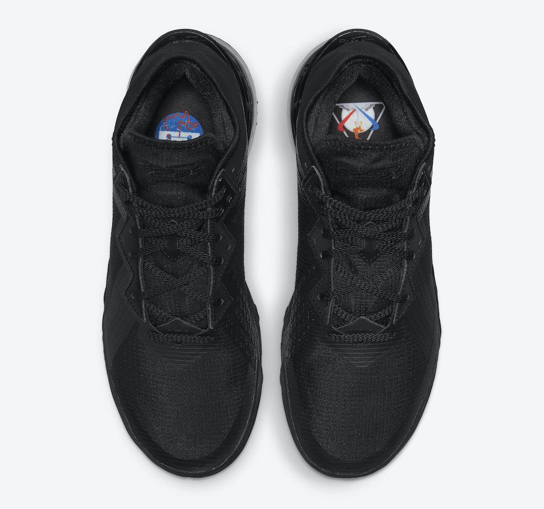Nike LeBron 18 Low Zero Dark 23 Black CV7562-004 Release Date Info