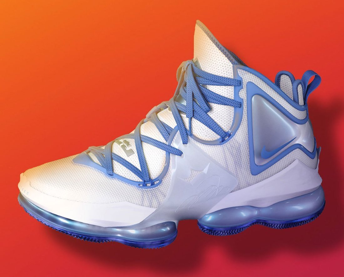 Nike LeBron 19 Space Jam White Blue Release Date Info