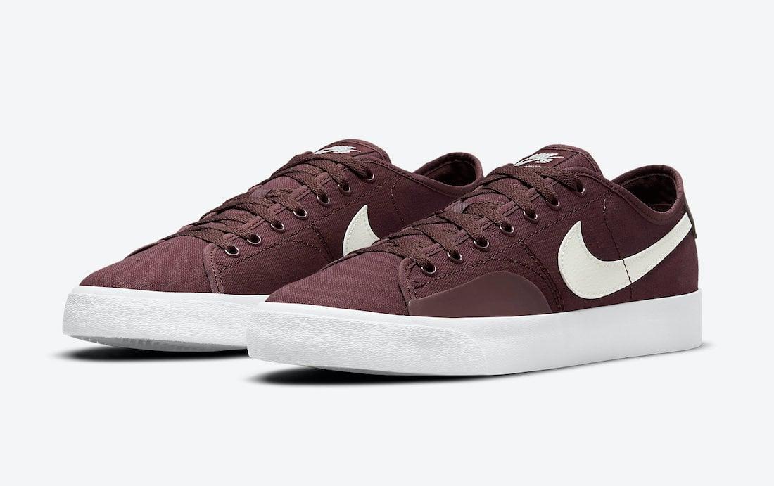 Nike SB Blazer Court Dark Wine CV1658-601 Release Date Info