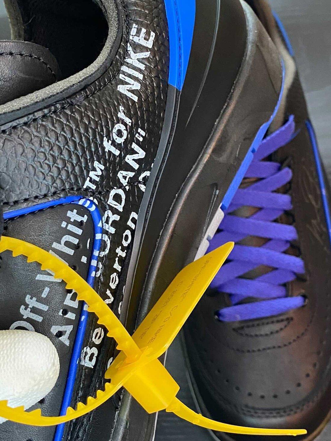 Off-White Air Jordan 2 Low Black Blue DJ4375-004 Release Date