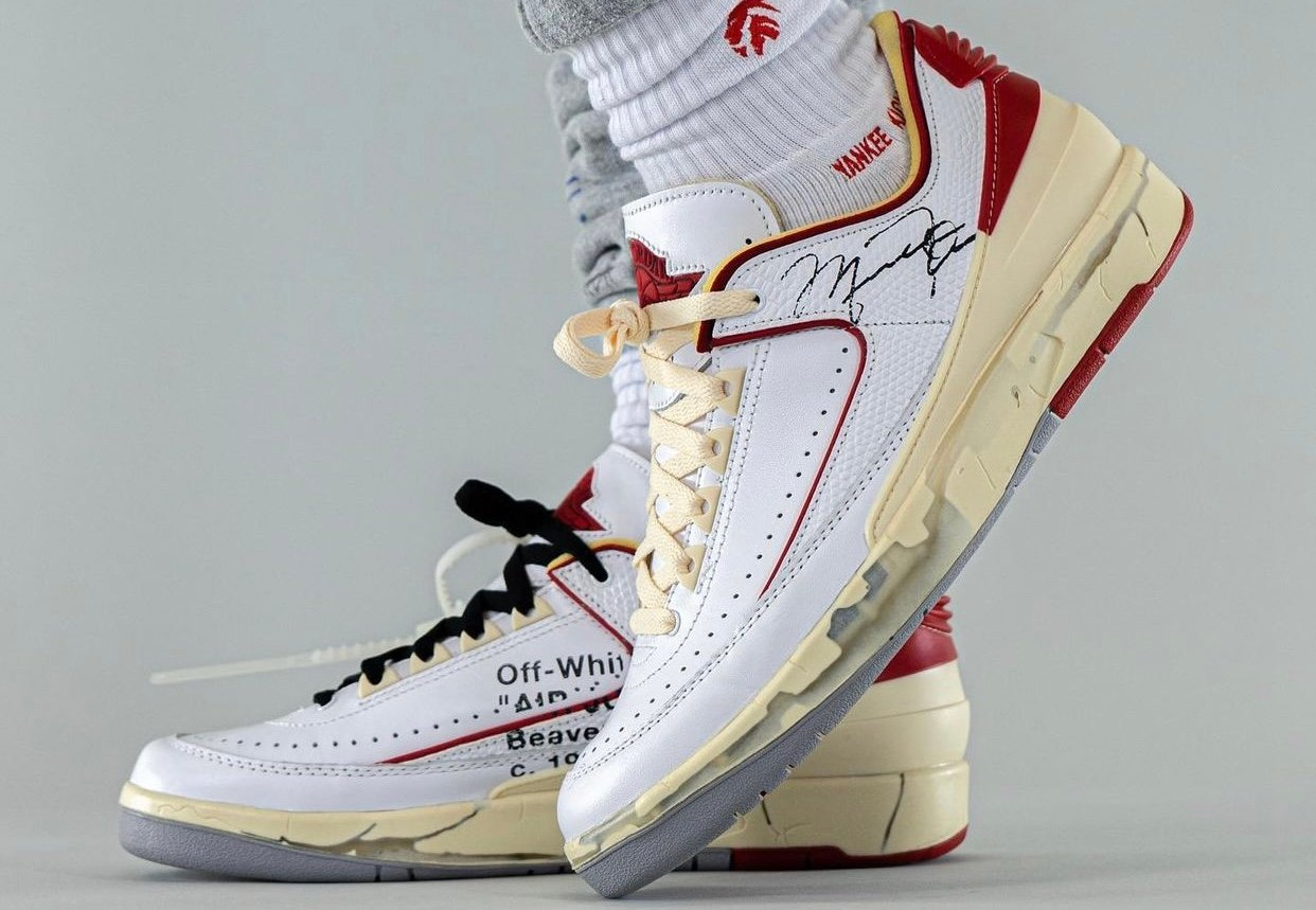 Off-White nike air max 4 grief and life quotes free White Red DJ4375-106 On-Feet
