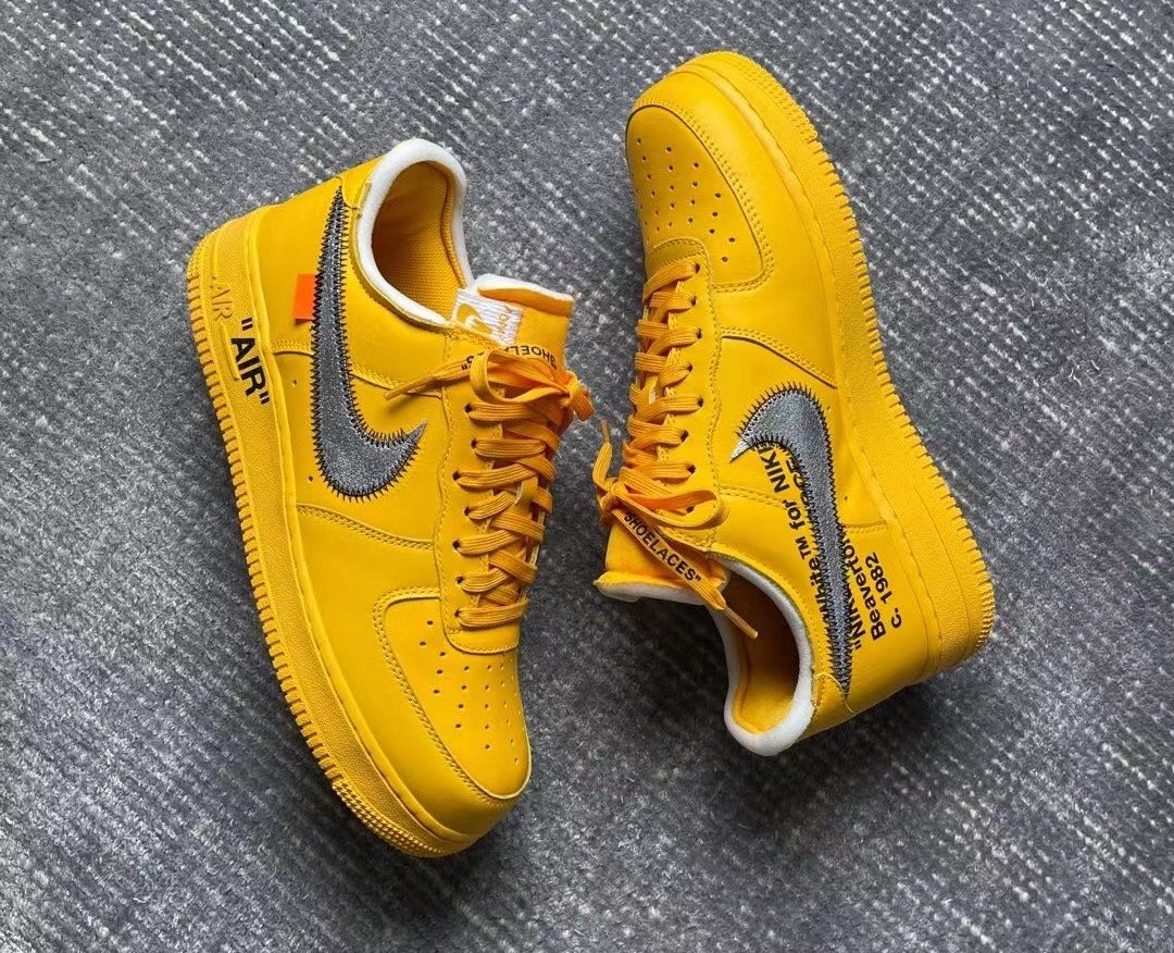 Off-White Nike Air Force 1 University Gold DD1876-700 Release Date