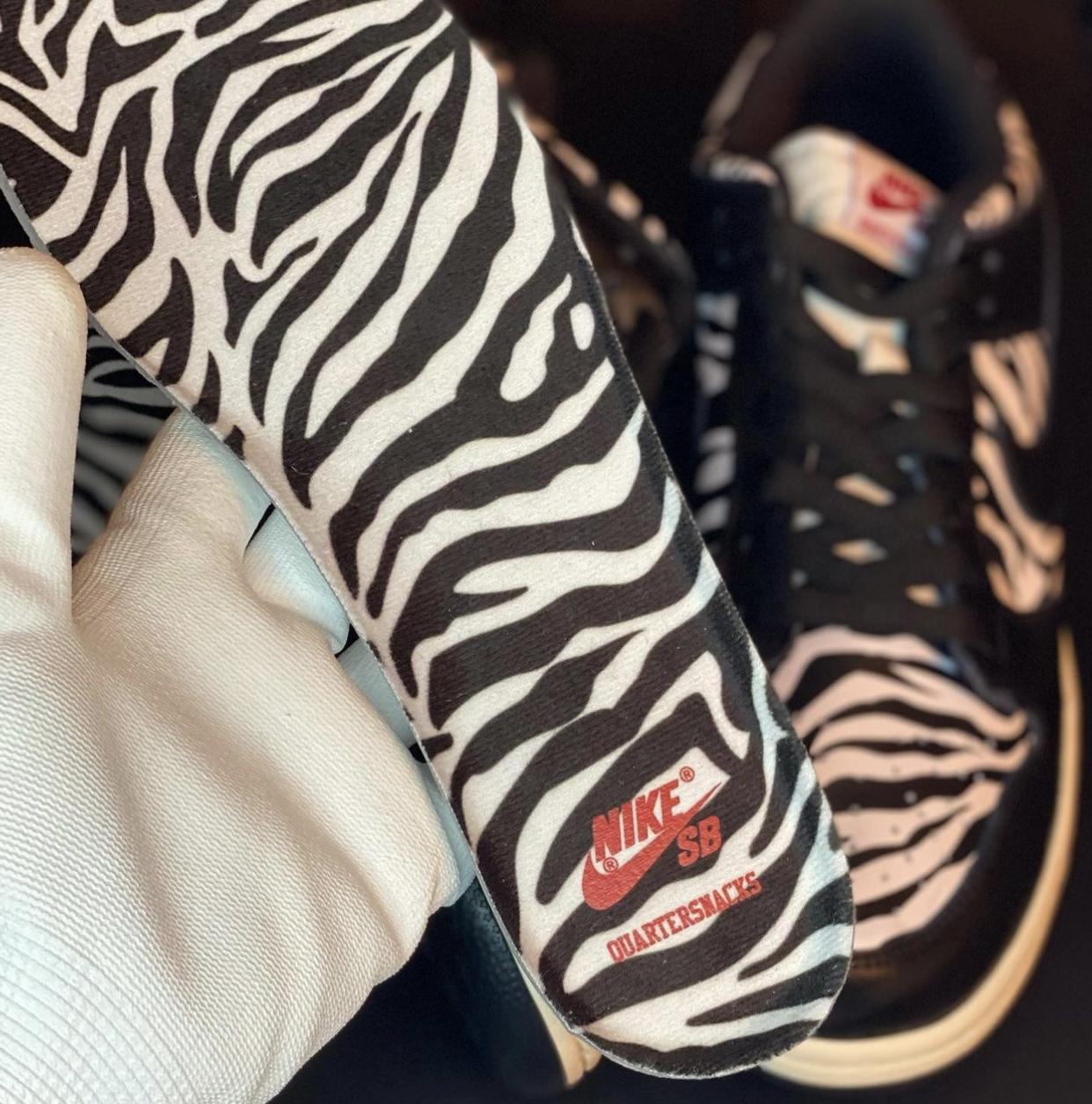 Quartersnacks Nike SB Dunk Low Zebra 2021 Release Date