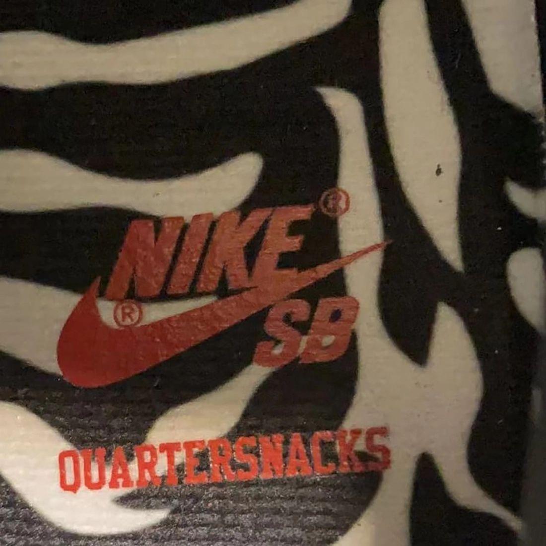 Quartersnacks Nike SB Dunk Low Zebra 2021 Release Date Info
