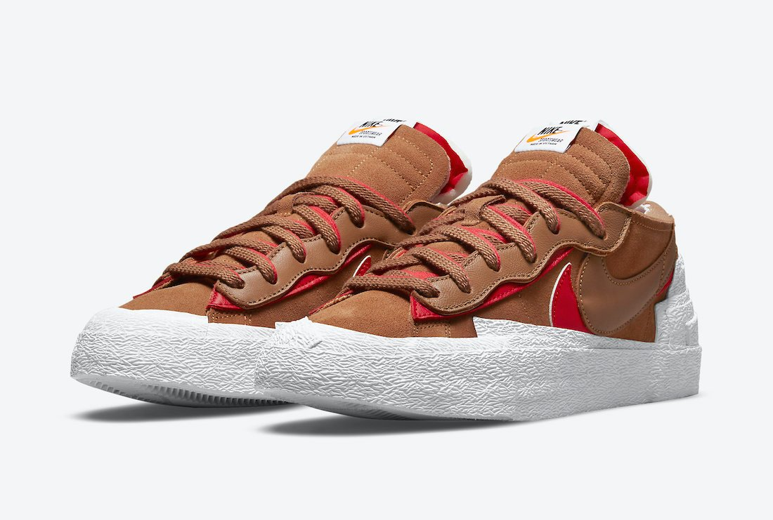 Sacai Nike Blazer Low British Tan DD1877-200 Release Date
