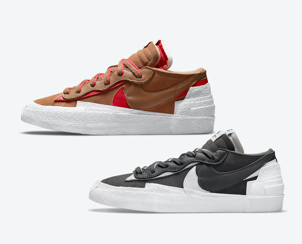 Sacai Nike Blazer Low Iron Grey British Tan Release Date